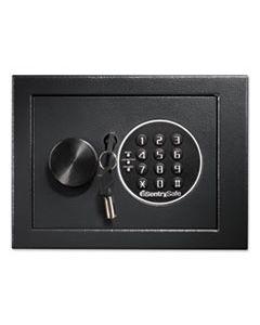 SENX014E ELECTRONIC SECURITY SAFE, 0.14 CU FT, 9W X 6.6D X 6.6H, BLACK