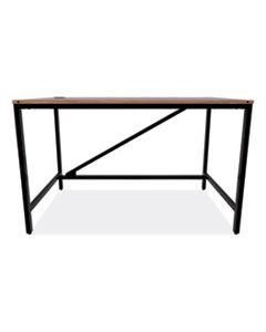 ALELTD4824WA INDUSTRIAL SERIES TABLE DESK, 47.25W X 23.63D X 29.5H, MODERN WALNUT