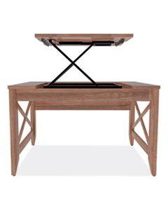 ALELD4824WA SIT-TO-STAND TABLE DESK, 47.25W X 23.63D X 29.5 TO 43.75H, MODERN WALNUT