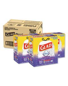 "CLO78902 ODORSHIELD TALL KITCHEN DRAWSTRING BAGS, 13 GAL, 0.95 MIL, 24"" X 27.38"", WHITE, 240/CARTON"