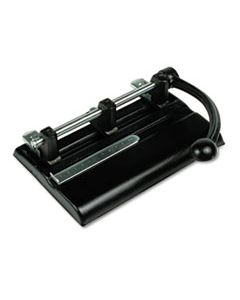 """MAT1340PB 40-SHEET LEVER ACTION TWO- TO SEVEN-HOLE PUNCH, 13/32"""" HOLES, BLACK"""