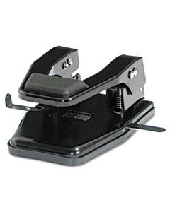 """MATMP250 40-SHEET HEAVY-DUTY TWO-HOLE PUNCH, 9/32"""" HOLES, PADDED HANDLE, BLACK"""