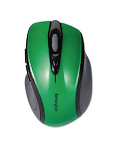 KMW72424 PRO FIT MID-SIZE WIRELESS MOUSE, 2.4 GHZ FREQUENCY/30 FT WIRELESS RANGE, RIGHT HAND USE, EMERALD GREEN