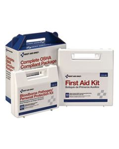 FAO228CP FIRST AID KIT FOR 50 PEOPLE, 229-PIECES, ANSI/OSHA COMPLIANT, PLASTIC CASE