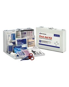 FAO224U FIRST AID KIT FOR 25 PEOPLE, 106-PIECES, OSHA COMPLIANT, METAL CASE
