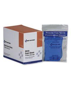 FAO21226 AMBIDEXTROUS NON-STERILE SINGLE USE NITRILE MEDICAL GLOVES, LARGE, 10/BOX