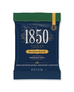 FOL21513 COFFEE FRACTION PACKS, PIONEER BLEND DECAF, MEDIUM ROAST, 2.5 OZ PACK, 24 PACKS/CARTON