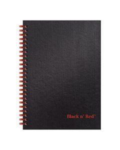 JDKL67000 TWINWIRE HARDCOVER NOTEBOOK, WIDE/LEGAL RULE, BLACK COVER, 8.25 X 5.88, 70 SHEETS