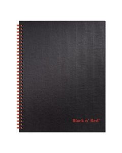 JDKK67030 TWINWIRE HARDCOVER NOTEBOOK, WIDE/LEGAL RULE, BLACK COVER, 11 X 8.5, 70 SHEETS