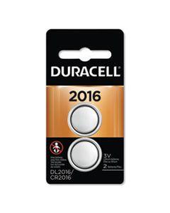 DURDL2016B2PK LITHIUM COIN BATTERY, 2016, 2/PACK