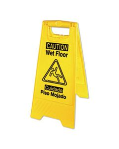 IMP9152W BILINGUAL YELLOW WET FLOOR SIGN, 12.05 X 1.55 X 24.3, YELLOW