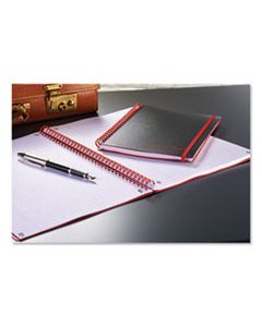 JDKE67008 TWIN WIRE POLY COVER NOTEBOOK, WIDE/LEGAL RULE, BLACK COVER, 11.75 X 8.25, 70 SHEETS