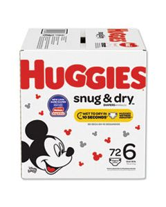 KCC49899 SNUG AND DRY DIAPERS, SIZE 6, 35 LBS MIN, 72/BOX