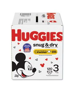KCC49896 SNUG AND DRY DIAPERS, SIZE 3, 16 LBS TO 28 LBS, 120/BOX