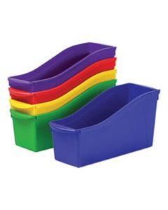 STX70105U06C INTERLOCKING BOOK BINS, 4 3/4 X 12 5/8 X 7, 5 COLOR SET, PLASTIC