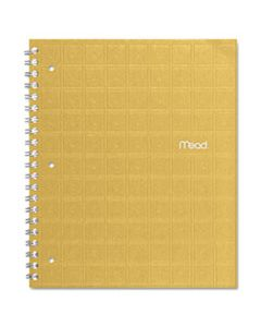 MEA06594 RECYCLED NOTEBOOK, 1 SUBJECT, MEDIUM/COLLEGE RULE, ASSORTED COLOR COVERS, 11 X 8.5, 80 SHEETS
