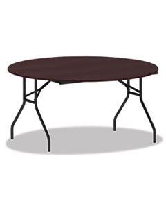ALEFT7260DMY ROUND WOOD FOLDING TABLE, 59 DIA X 29 1/8H, MAHOGANY