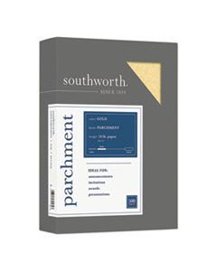 SOU994C PARCHMENT SPECIALTY PAPER, 24 LB, 8.5 X 11, GOLD, 500/REAM