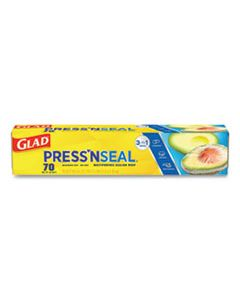 CLO70441 PRESS'N SEAL FOOD PLASTIC WRAP, 70 SQUARE FOOT ROLL, 12/CARTON