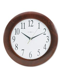 "MIL625214 CORPORATE WALL CLOCK, 12.75"" OVERALL DIAMETER, CHERRY CASE, 1 AA (SOLD SEPARATELY)"
