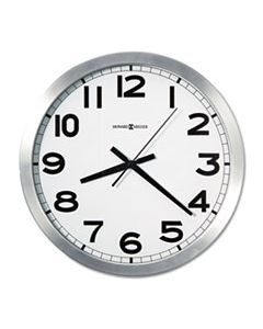 "MIL625450 SPOKANE WALL CLOCK, 15.75"" OVERALL DIAMETER, SILVER CASE, 1 AA (SOLD SEPARATELY)"