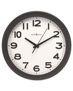 "MIL625485 KENWICK WALL CLOCK, 13.5"" OVERALL DIAMETER, BLACK CASE, 1 AA (SOLD SEPARATELY)"