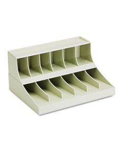 COMBO COIN WRAPPER/CURRENCY BAND RACK, 12 POCKETS, 10-5/8 X 8-3/8 X 5-3/8