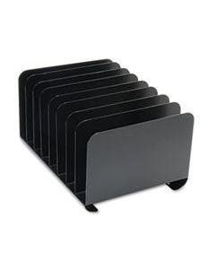 DESKTOP VERTICAL ORGANIZER, EIGHT SECTIONS, STEEL, 15 X 11 X 8 1/8, BLACK