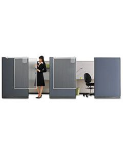 QRTWPS1000 WORKSTATION PRIVACY SCREEN, 36W X 48D, TRANSLUCENT CLEAR/SILVER