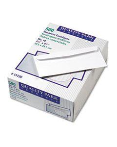 QUA11130 PARK RIDGE EMBOSSED EXECUTIVE ENVELOPE, #10, COMMERCIAL FLAP, GUMMED CLOSURE, 4.13 X 9.5, WHITE, 500/BOX