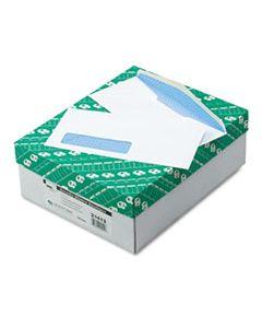 QUA21412 WINDOW ENVELOPE, #10, BANKERS FLAP, GUMMED CLOSURE, 4.13 X 9.5, WHITE, 500/BOX