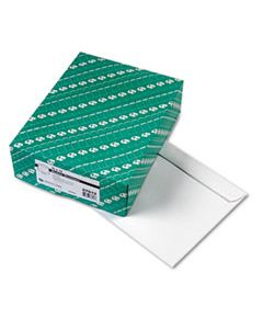 QUA37613 OPEN-SIDE BOOKLET ENVELOPE, #13 1/2, CHEESE BLADE FLAP, GUMMED CLOSURE, 10 X 13, WHITE, 100/BOX