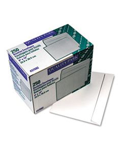 QUA37682 OPEN-SIDE BOOKLET ENVELOPE, #10 1/2, CHEESE BLADE FLAP, GUMMED CLOSURE, 9 X 12, WHITE, 250/BOX