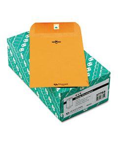 QUA37755 CLASP ENVELOPE, #1, CHEESE BLADE FLAP, CLASP/GUMMED CLOSURE, 6 X 9, BROWN KRAFT, 100/BOX