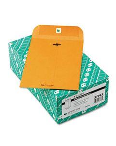 QUA37763 CLASP ENVELOPE, #1 3/4, CHEESE BLADE FLAP, CLASP/GUMMED CLOSURE, 6.5 X 9.5, BROWN KRAFT, 100/BOX