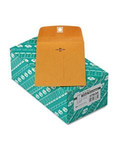 QUA37835 CLASP ENVELOPE, #35, CHEESE BLADE FLAP, CLASP/GUMMED CLOSURE, 5 X 7.5, BROWN KRAFT, 100/BOX