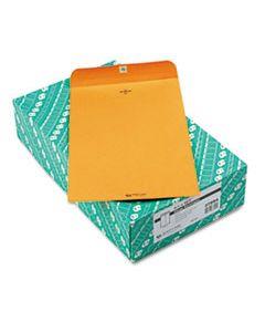 QUA37894 CLASP ENVELOPE, #94, CHEESE BLADE FLAP, CLASP/GUMMED CLOSURE, 9.25 X 14.5, BROWN KRAFT, 100/BOX