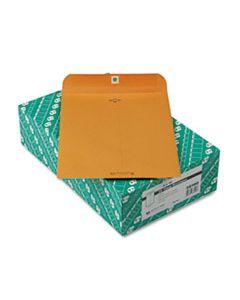 QUA38190 CLASP ENVELOPE, #90, CHEESE BLADE FLAP, CLASP/GUMMED CLOSURE, 9 X 12, BROWN KRAFT, 100/BOX
