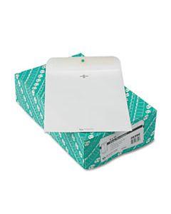 QUA38390 CLASP ENVELOPE, #90, CHEESE BLADE FLAP, CLASP/GUMMED CLOSURE, 9 X 12, WHITE, 100/BOX
