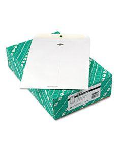 QUA38397 CLASP ENVELOPE, #97, CHEESE BLADE FLAP, CLASP/GUMMED CLOSURE, 10 X 13, WHITE, 100/BOX