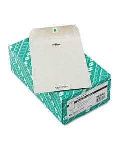 QUA38563 CLASP ENVELOPE, #63, CHEESE BLADE FLAP, CLASP/GUMMED CLOSURE, 6.5 X 9.5, EXECUTIVE GRAY, 100/BOX