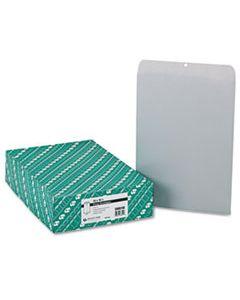 QUA38610 CLASP ENVELOPE, #110, CHEESE BLADE FLAP, CLASP/GUMMED CLOSURE, 12 X 15.5, EXECUTIVE GRAY, 100/BOX