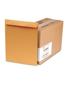 QUA41965 CATALOG ENVELOPE, #15 1/2, CHEESE BLADE FLAP, GUMMED CLOSURE, 12 X 15.5, BROWN KRAFT, 250/BOX