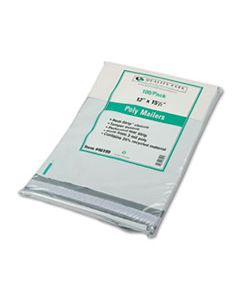 QUA46199 REDI-STRIP POLY MAILER, #5, SQUARE FLAP, REDI-STRIP CLOSURE, 12 X 15.5, WHITE, 100/PACK
