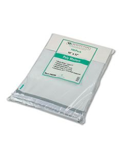 QUA46200 REDI-STRIP POLY MAILER, #5 1/2, SQUARE FLAP, REDI-STRIP CLOSURE, 14 X 17, WHITE, 100/PACK
