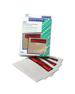 QUA46894 SELF-ADHESIVE PACKING LIST ENVELOPE, 4.5 X 5.5, CLEAR/ORANGE, 100/BOX