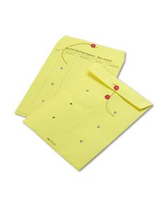 QUA63576 COLORED PAPER STRING & BUTTON INTEROFFICE ENVELOPE, #97, ONE-SIDED FIVE-COLUMN FORMAT, 10 X 13, YELLOW, 100/BOX