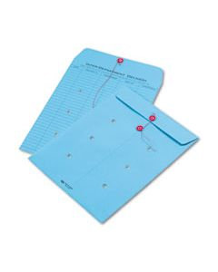 QUA63577 COLORED PAPER STRING & BUTTON INTEROFFICE ENVELOPE, #97, ONE-SIDED FIVE-COLUMN FORMAT, 10 X 13, BLUE, 100/BOX