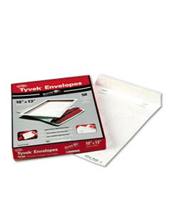 QUAR1582 CATALOG MAILERS, DUPONT TYVEK, #13 1/2, CHEESE BLADE FLAP, SELF-ADHESIVE CLOSURE, 10 X 13, WHITE, 50/BOX
