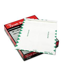 QUAR1800 CATALOG MAILERS, DUPONT TYVEK, #15 1/2, CHEESE BLADE FLAP, SELF-ADHESIVE CLOSURE, 12 X 15.5, WHITE, 100/BOX